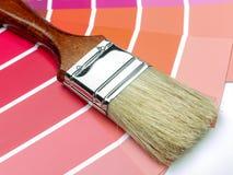 Swatches βουρτσών και χρώματος χρωμάτων Στοκ εικόνα με δικαίωμα ελεύθερης χρήσης