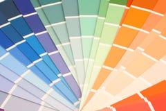 swatches χρωμάτων Στοκ εικόνες με δικαίωμα ελεύθερης χρήσης