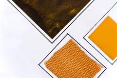 Swatches alaranjados e de bronze fotos de stock royalty free