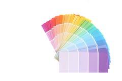 Swatches da cor de amostras da pintura para remodelar Fotos de Stock Royalty Free