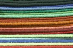 Swatches e amostras da textura do tapete Fotografia de Stock Royalty Free