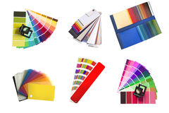 Swatches selection for different colours Royalty Free Stock Photo