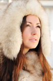 Swathed in furs Royalty Free Stock Photos
