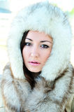 Swathed in furs Royalty Free Stock Photography