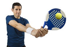 Swatting the ball Stock Images