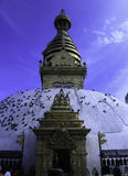 Swayabhunath di Kathmandu Immagine Stock