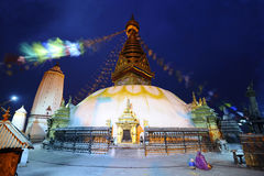 Swayam Bhunath temple. Kathmandu, Nepal Stock Photography