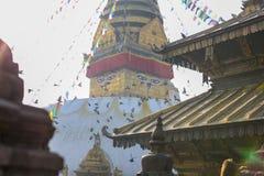 Swayambahunath Stupa lizenzfreie stockfotografie