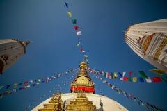 Swayambahunath Stupa lizenzfreies stockbild