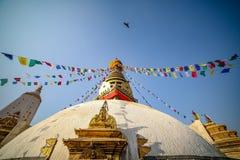 Swayambahunath Stupa foto de archivo