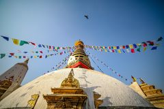 Swayambahunath Stupa stock photo
