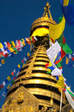 Swayambhu Stupa,加德满都,尼泊尔2 免版税图库摄影