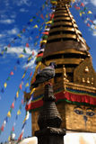 Swayambhu Stupa. Is UNESCO world heritage site located at Kathmandu, Nepal Stock Photography