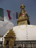 Swayambhunat Buddhist Stupa Royalty Free Stock Photos