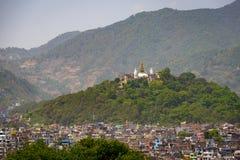 Swayambhunath在加德满都,尼泊尔 免版税库存图片