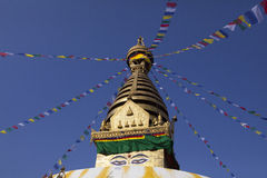 Swayambhunath stupa 库存图片