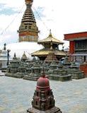 Swayambhunath или висок обезьяны в Катманду, Непале Стоковое фото RF