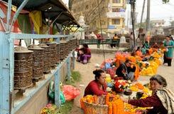 Swayambhunath-Affe-Tempel, Kathmandu, Nepal Stockfotografie