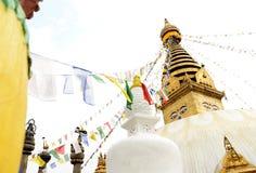 Swayambhunath-Affe-Tempel, Kathmandu, Nepal Stockbild