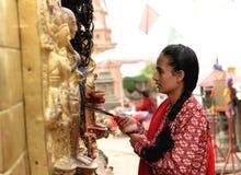 Swayambhunath-Affe-Tempel, Kathmandu, Nepal Lizenzfreie Stockfotos