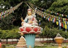 Swayambhunath-Affe-Tempel, Kathmandu, Nepal Lizenzfreies Stockfoto