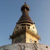 Swayambhunath ancient Buddhist religious complex. Stock Photos