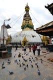 Swayambhunath Buddhist stupa, Nepal Royalty Free Stock Image