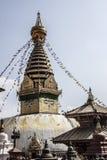 Swayambhunath der Affe-Tempel in Kathmandu Lizenzfreies Stockfoto