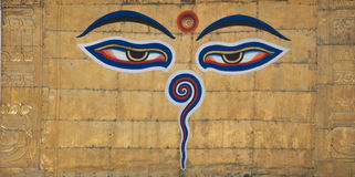 Swayambhunath Eyes Stock Photo