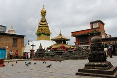 Swayambhunath ist der meiste wichtige Standort Lizenzfreie Stockbilder