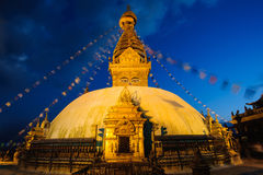 Swayambhunath monastery Stock Photo