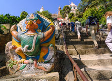 Swayambhunath or Monkey temple stairs, Kathmandu, Nepal. Stock Photography