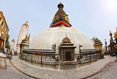 Swayambhunath (monkey temple) stupa on sunset Stock Photos