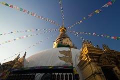 Swayambhunath pagoda in Nepal Royalty Free Stock Image