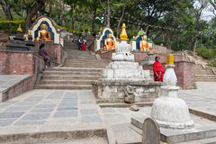 Swayambhunath steps Stock Photos