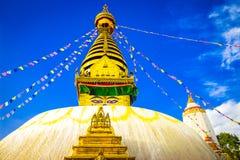 Swayambhunath Stupa, Κατμαντού, Νεπάλ Στοκ Εικόνες