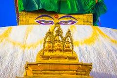Swayambhunath Stupa, Κατμαντού, Νεπάλ Στοκ Φωτογραφίες