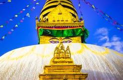 Swayambhunath Stupa, Κατμαντού, Νεπάλ Στοκ φωτογραφίες με δικαίωμα ελεύθερης χρήσης