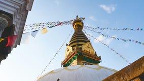 Swayambhunath Stupa КАТМАНДУ, НЕПАЛ видеоматериал