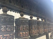 Swayambhunath Stupa, Affe-Tempel, in Kathmandu, Nepal Lizenzfreie Stockfotografie