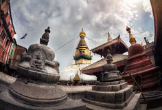 Swayambhunath stupa Stock Photo