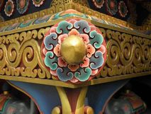 SWAYAMBHUNATH STUPA Ornamental Detail. This is detail from the lower level of SWAYAMBHUNATH STUPA in Kathmandu, Nepal Royalty Free Stock Images