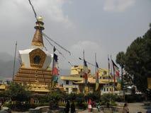 SWAYAMBHUNATH STUPA Lower Level Shrine. This is a view of  the lower level of SWAYAMBHUNATH STUPA in Kathmandu, Nepal Stock Photo