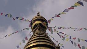 Swayambhunath Stupa eller apatempel, Katmandu, Nepal, Asien arkivfilmer