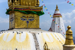 Swayambhunath Stupa EN KATMANDU Foto de archivo libre de regalías