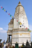 Chedi en Swayambhunath Foto de archivo libre de regalías