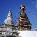 Swayambhunath stupa Fallhammertempel Stockfotos