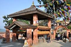 Tempel in Swayambhunath Stock Fotografie