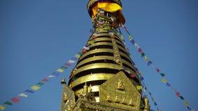 Swayambhunath stupa - holiest stupa tibetan buddhism vajrayana kathmandu Nepal zbiory wideo