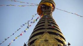 Swayambhunath stupa - holiest stupa tibetan buddhism vajrayana kathmandu Nepal zdjęcie wideo